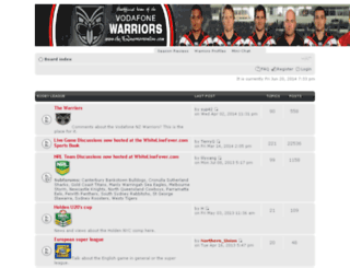 thenzwarriorsonline.com screenshot