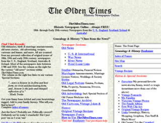 theoldentimes.com screenshot