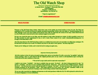 theoldwatchshop.com screenshot