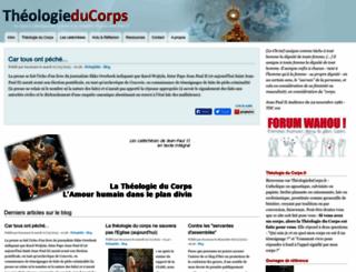 theologieducorps.fr screenshot