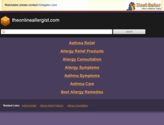 theonlineallergist.com screenshot