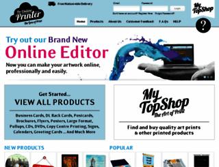 theonlineprinter.co.nz screenshot