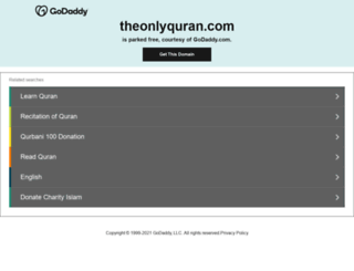 theonlyquran.com screenshot
