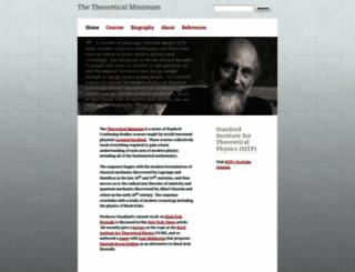 theoreticalminimum.com screenshot