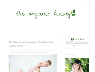 theorganicbeautyblog.com screenshot