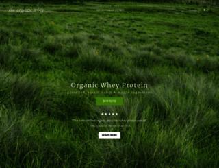 theorganicwhey.com screenshot