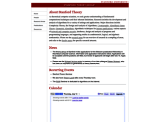 theory.stanford.edu screenshot