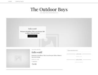 theoutdoorboys.com screenshot