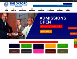 theoxford.edu screenshot