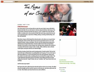 thepagesofourcrazylife.blogspot.com screenshot