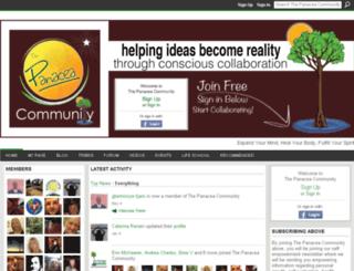thepanaceacommunity.ning.com screenshot