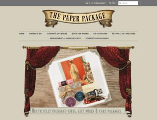thepaperpackage.co.nz screenshot