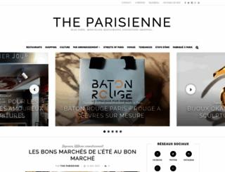 theparisienne.fr screenshot