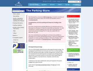 theparkingstore.winnipeg.ca screenshot