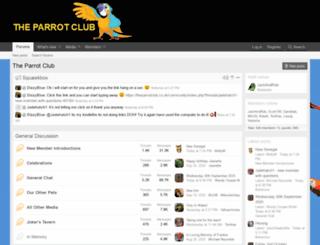 theparrotclub.co.uk screenshot