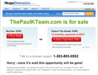 thepaulkteam.com screenshot