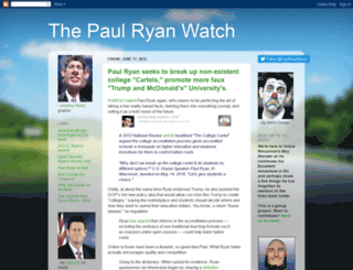 thepaulryanwatch.blogspot.com screenshot