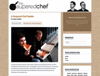 thepauperedchef.com screenshot