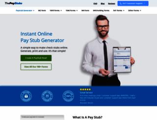 thepaystubs.com screenshot