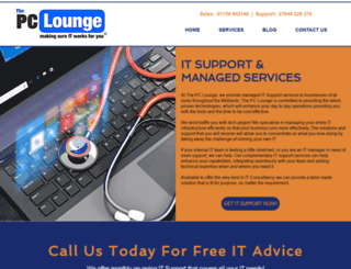 thepclounge.co.uk screenshot