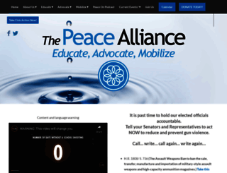 thepeacealliance.org screenshot