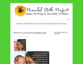 thepeacefulbirthproject.com screenshot