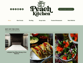 thepeachkitchen.com screenshot