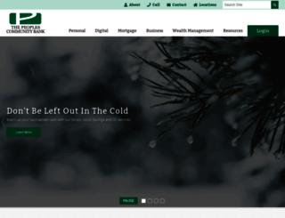 thepeoplescommunitybank.com screenshot