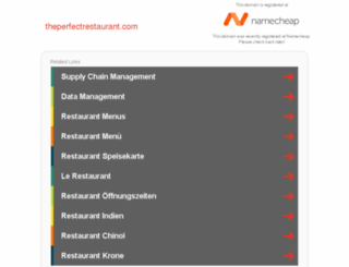 theperfectrestaurant.com screenshot