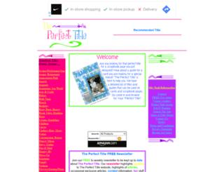 theperfecttitle.com screenshot