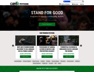 thepetitionsite.com screenshot