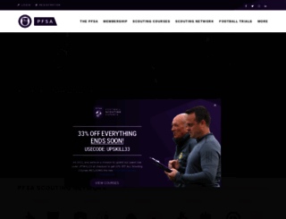 thepfsa.co.uk screenshot