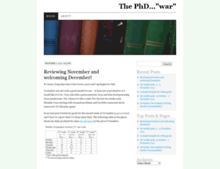 thephdwar.wordpress.com screenshot