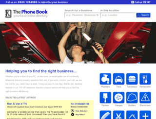 thephonebook.co.uk screenshot