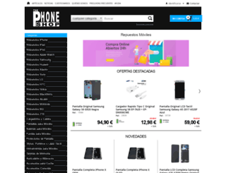 thephoneshop.es screenshot