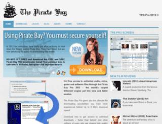thepiratebaypro.org screenshot