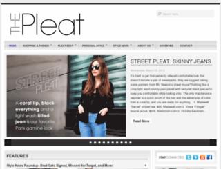 thepleat.com screenshot