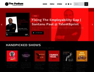 thepodium.in screenshot