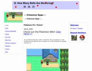 thepokemonrpgs.webs.com screenshot