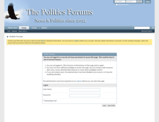 thepoliticsforums.com screenshot