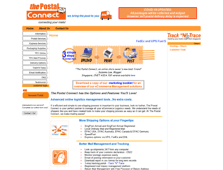 thepostalconnect.com screenshot