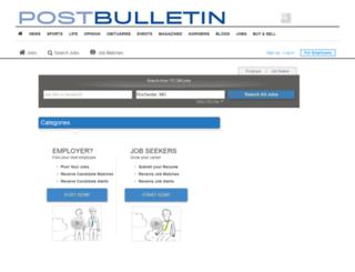 thepostbulletin.thejobnetwork.com screenshot