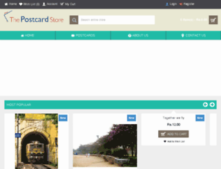 thepostcardstore.in screenshot