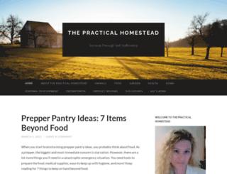 thepracticalhomestead.wordpress.com screenshot