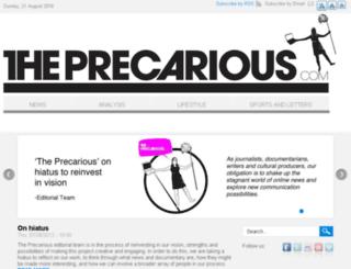theprecarious.com screenshot