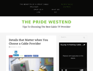 thepridewestend.com screenshot