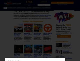 theprizefinder.com screenshot
