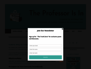 theprofessorisin.com screenshot