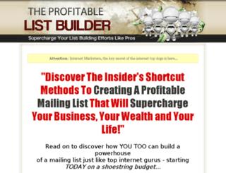 theprofitablelistbuilder.com screenshot
