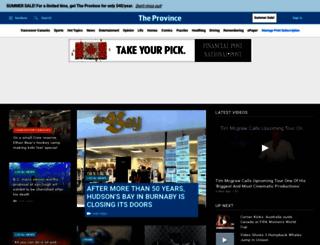 theprovince.com screenshot